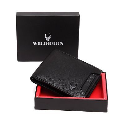 Wildhorn Blue Genuine Leather Men/'s WalletFree Shipping Worldwide