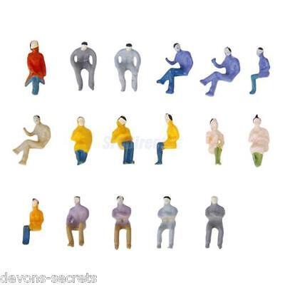 25/100 Joblot Model Railway Seated New Sitting People Figures 1:150 N Gauge 8mm Prezzo Di Vendita Diretto In Fabbrica