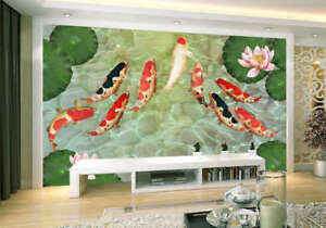 Enormous-Pulpy-Fish-3D-Full-Wall-Mural-Photo-Wallpaper-Printing-Home-Kids-Decor