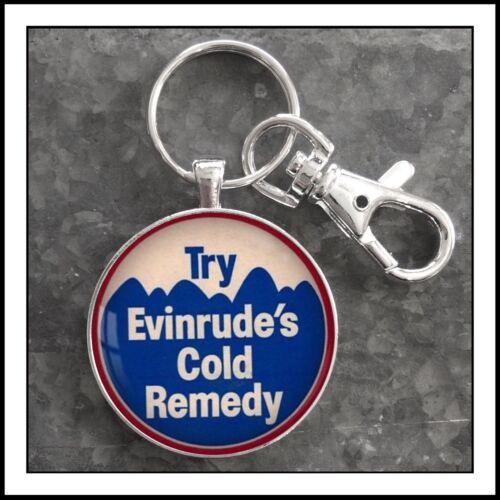 Vintage Evinrude Snowmobile Emblem photo Keychain Snow Mobile