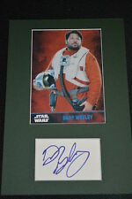 GREG GRUNBERG signed Autogramm In Person Passepartout STAR WARS FORCE AWAKENS