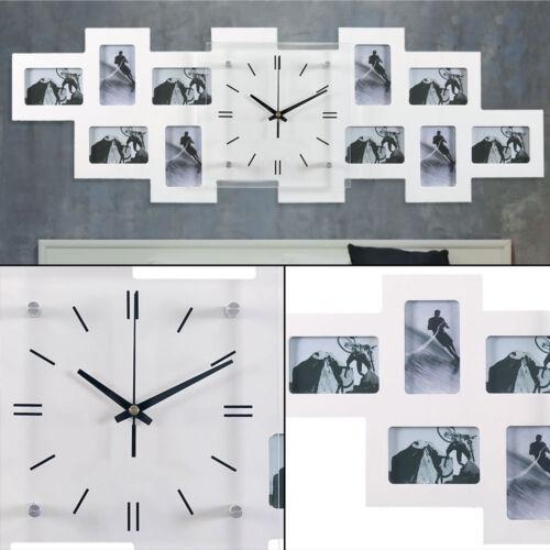 Foto LUSSO VETRO MURO OROLOGIO residenziali stanza tempo di visualizzazione analogica 10x Decorazione Cornice Foto