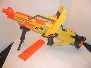 Nerf-Stampede-ECS-N-Strike-Automatic-Blaster-Dart-Gun-with-Clip-amp-tripod-034-Works-034
