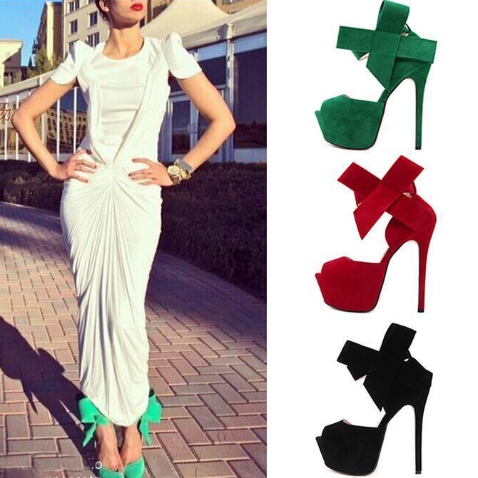Womens Open Toe Platform Bowknot Ankle Strap High Heels Heels High Sandals Stilettos Shoes 7593df