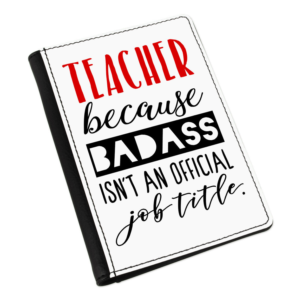 Teacher Badass isn 't à Offical Job Title Passport Passport Passport Holder Cover Case Wallet 6ecbb2