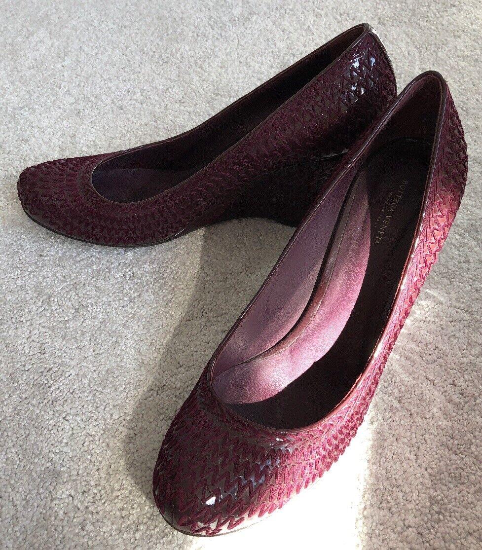 Bottega Veneta Wedges Balerina, Purple Bourgundy Colour With Pattern, Size 41