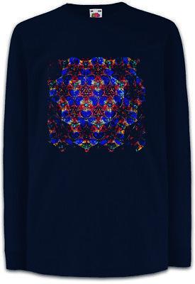100% Vero Kaleidoscope Square Ii Bambini Manica Lunga T-shirt Caleidoscopio Cristallo Mirroring- Ineguale Nelle Prestazioni