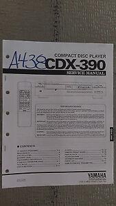 yamaha cdx 390 service manual original repair book stereo cd player rh ebay com