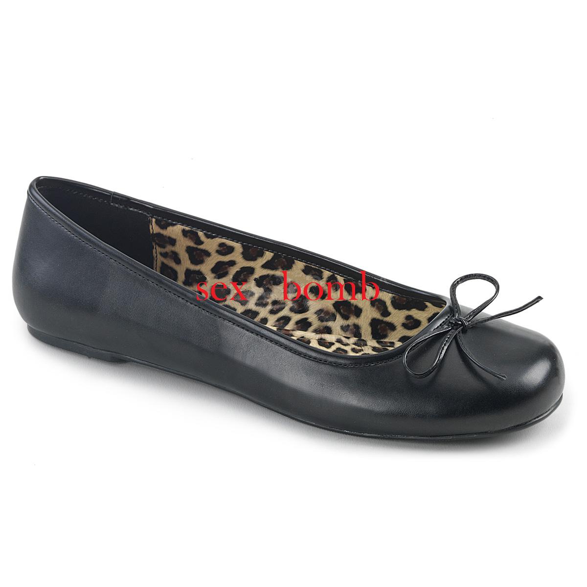 Sexy BALLERINE NERO dal 39 al 46 NERO BALLERINE OPACO fiocchetto tacco flat scarpe GLAMOUR f09615