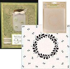 WREATH FRAME folder 35.9760 LEANE CREATIEF Embossing Folders Christmas Retired