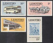 Lesotho 1972 Mail / BUS / Horse Cart / MOTORING 4V Set n23295