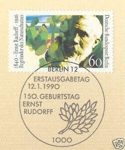 Berlin 1990: écologistes Volontaires Ernst Rudorff Nº 862 Avec Ersttags-cachet Spécial! 1a-rstempel! 1afr-fr Afficher Le Titre D'origine