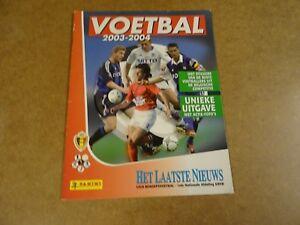 PANINI-ALBUM-KOMPLEET-HET-LAATSTE-NIEUWS-FOOTBALL-VOETBAL-2003-2004