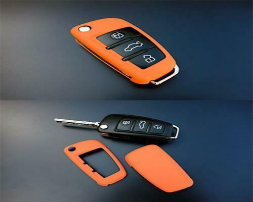 Für Audi A1 A3 A4 A6 Q3 Q5 Q7 TT Exeo PREMIUM Schlüssel Cover Gehäuse Orange