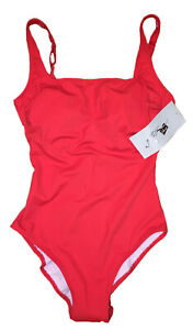 RTLS $130 GOTTEX WOMENS RED 1 PC BAY WATCH STYLE BATHING SUIT SZ 8