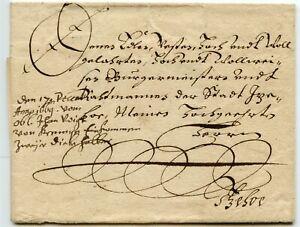 DENMARK-1669-Wrapper-from-Krempe-Itzehoe-sent-free-stylised-034-Crown-034-manuscript