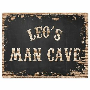 Image Is Loading PP2563 LEO 039 S MAN CAVE Plate Chic