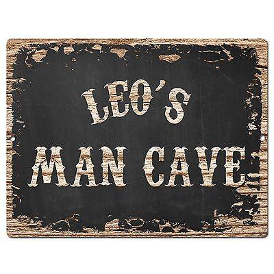 PP2563 LEO'S MAN CAVE Plate Chic Sign Home Room Garage Decor Birthday Gift  | eBay