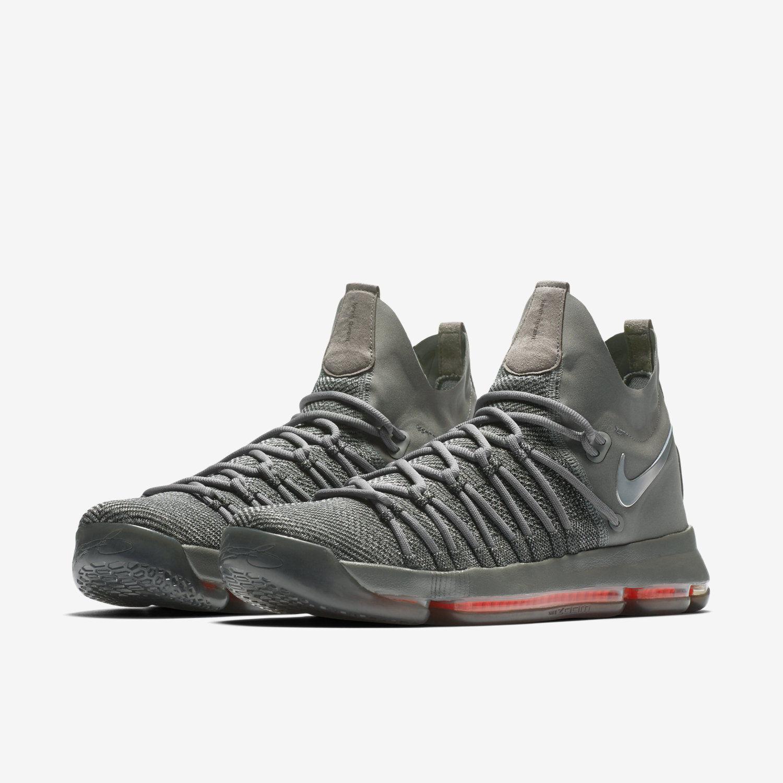 Nike zoom kd 9 elite elite elite ts größe 14.zeit zu glänzen.kevin durant.Grau 909139-013 944410