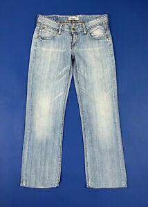 Levis-570-jeans-donna-usato-denim-W29-tg-43-gamba-dritta-blu-straight-fit-T5662