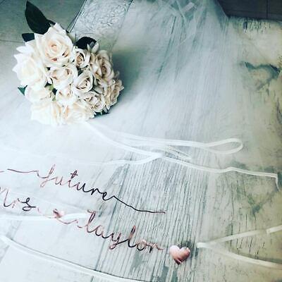Coraggioso Velo Da Sposa Personalizzata-mostra Il Titolo Originale