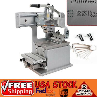 Manual Pad Printing Machine Kit Pad Printer Sealed Ink Cup System 80×80mm  DIY