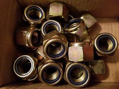 Romantisch M24 Din 982 Hohe Sechskant Nylon Einsatz Muttern Klasse 10 Stahl Verzinkt 10 SchöN Und Charmant