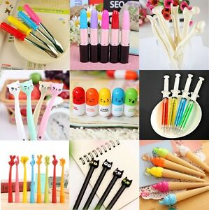 Image Is Loading Cute Funny Novelty Pens Ball Point Office Stationery
