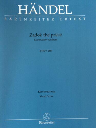 Zadok the priest Coronation Anthem HWV 258 Klavierauszug Händel