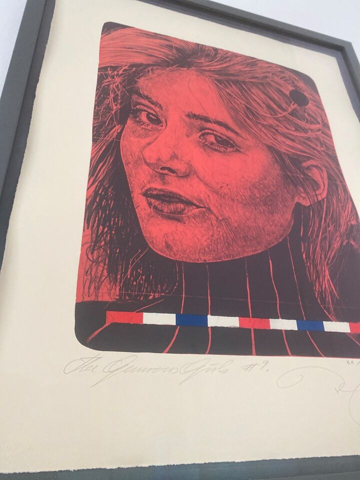 Litografi, Kasper Eistrup , motiv: The Generous Girls