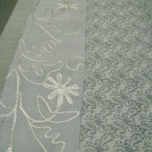 7 Piece 6 Table Placemats Embroidery Silver Table Runner  34 x 176cm