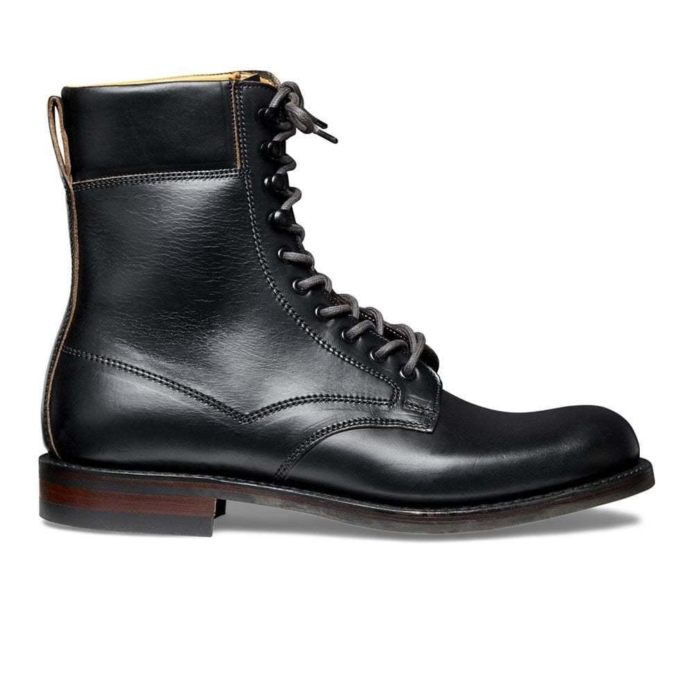 De hombre hecho a Mano Cuero Negro botas De País ma farsa R, botas al Tobillo marchando Derby