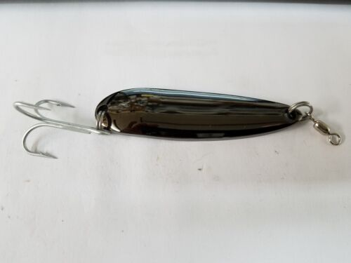 DISCOUNT FOR 2 OR MORE 1 Gator Spoon Metal Lure Black Chrome Plain 2oz