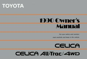 1990 toyota celica all trac 4wd owners manual user guide reference rh ebay co uk iPad Manual Instruction Manual Example