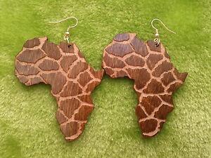 Animal Print Wooden Earrings