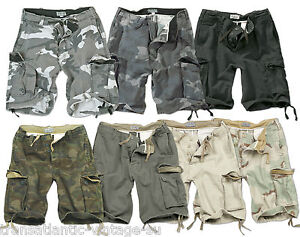 3ee482634c Image is loading SURPLUS-VINTAGE-CARGO-SHORTS-MENS-ARMY-STYLE-COMBAT-