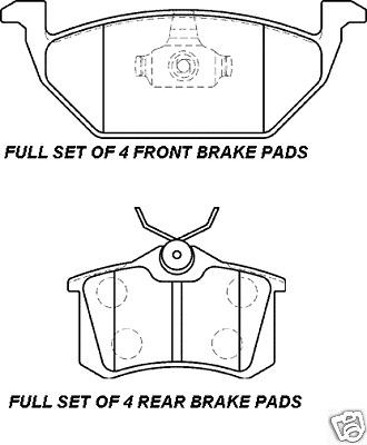 SEAT LEON TOLEDO avant et arrière plaquettes disques de frein /&