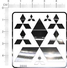 6298 chrome decals Mitsubishi for model kits metal