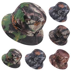 1129677b Bucket Hat Camo Fishing Brim Boonie Outdoor Men Sun Hunting Summer ...
