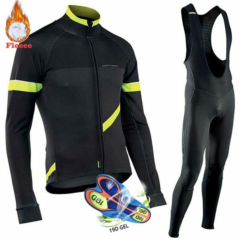 ciclismo abiti uomini 2019 Pro squadra NW Winter Thermal Fleece Northwave Jersey Suit