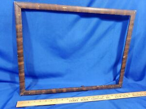 Antique-Picture-Frame-Tiger-Wood-Photo-Painting-Mirror-VTG-22x17-Opening-19-5x