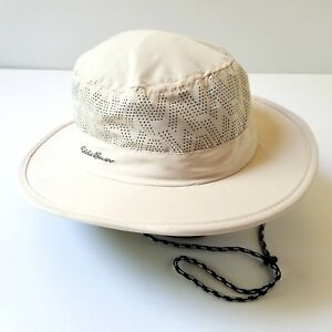 bf0e02d49 Details about Eddie Bauer Free Shade Summer Boonie Bucket Hat S/M Removable  Strap Fishing Hike