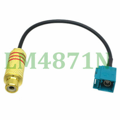 Car Head Unit VHF UHF TV RCA Female to Fakra Z Female RG174 Pigtail Cable 50cm USA Shipping