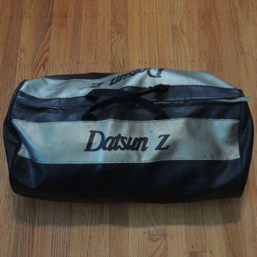 Datsun Z Vintage Duffel Bag Black Silver Leather Z