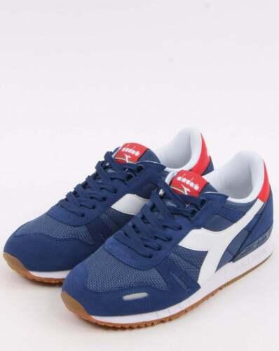 Zapatillas Zapatos Diadora Titan II entrenadores en Azul Marino-Retro corredores 80s 90s