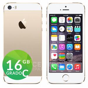 APPLE-IPHONE-5S-16GB-ORO-GOLD-BIANCO-GRADO-C-RIGENERATO-RICONDIZIONATO-USATO