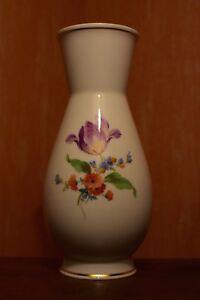 Meissen-Vase-Blumendekor-Top-Zustand-ohne-Schaeden