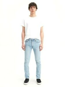 Levis Mens 510 0675 Light Wash Stretch Skinny Fit Stretch Denim Jeans Sz 28 x 30