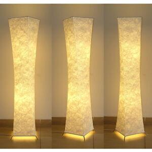 "Floor Lamp 52"" Fabric shade Simple shape Warm atmosphere Night Lighting Bedroom"