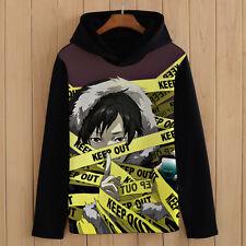 New Anime DuRaRaRa!! Orihara Izaya Unisex Pullover Sweatshirt Hoodie Coat #BN26